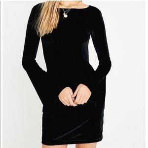 Urban Outfitters black velvet dress w/ bell sleeve
